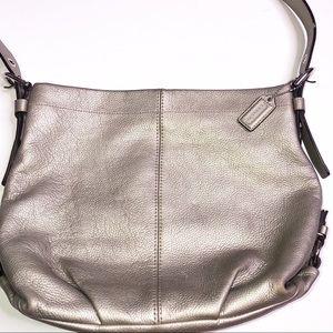 Coach | Leather Shoulder Bag - Pewter
